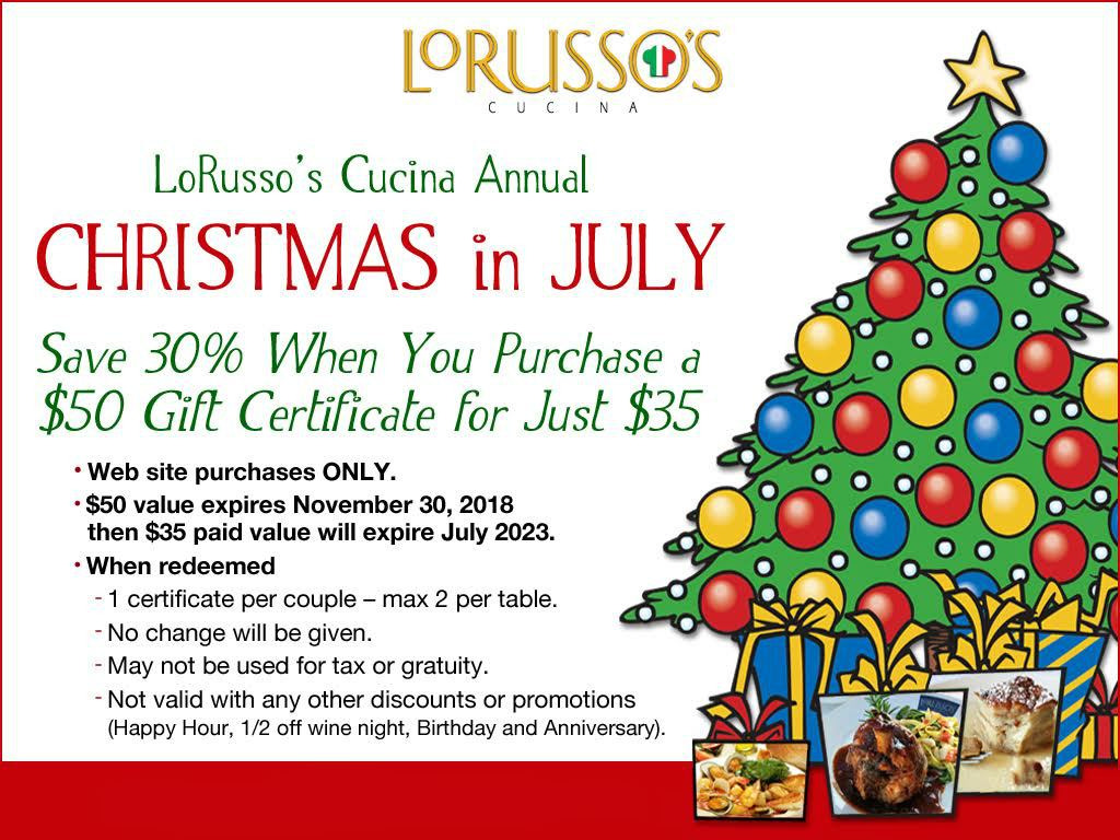 LoRusso\'s Christmas in July_Edit - LoRusso\'s Cucina